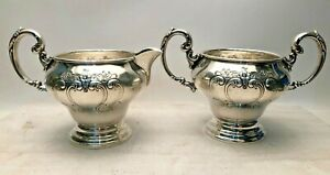 Gorham Chantilly Sterling Silver Creamer And Sugar 1009 1010