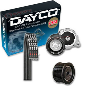 Dayco Serpentine Belt Drive Component Kit For 2007 2016 Toyota Tundra 5 7l Ux