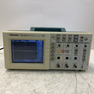 Tektronix Tds 2002 Two Channel Digital Storage Oscilloscope Color Display Nice
