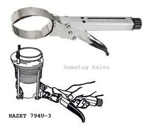 Hazet Germany 794u 3 Piston Ring Compressor Chrome Plated For Rings 70 100mm