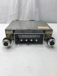 Vintage Sparkomatic Am Fm Stereo Car Radio With Cassette Sr42 No Faceplate Parts