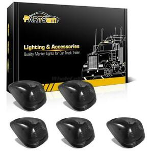 5pc Smoke Roof Running Cab Marker White 16 Led Lights For Ford F 250 F 350 F 450