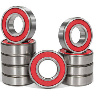 Set Of 10pcs 6205 2rs Deep Groove Steel Ball Bearing 25x52x15mm Double Seal Roll