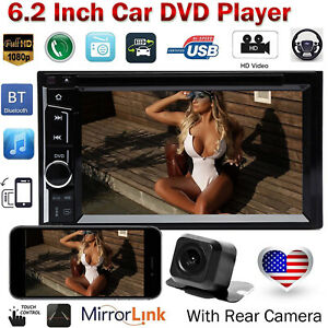 Double Din Cd Dvd Player Car Radio Stereo Bluetooth For Ford Ranger Escape Cam