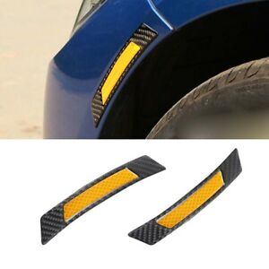 Super Yellow Reflrvtive Protection Strip Wheel Eyebrow Edge Guard Decal Stickers
