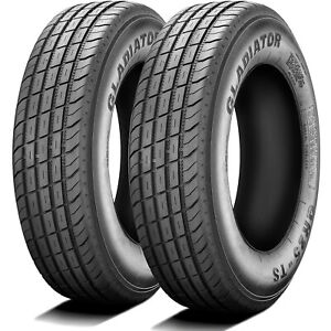 2 New Gladiator Qr25 ts St 235 85r16 Load F 12 Ply Trailer Tires