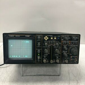 Protek P 2640 Oscilloscope 40mhz Tested And Working W Stand