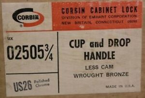 New Corbin Cabinet Co Cup And Drop Handle Lock 1 4 Spindle