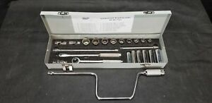 23 Pc 3 8 Socket Set Kd Allen Wright Tools All American Made Complete 12 Pt