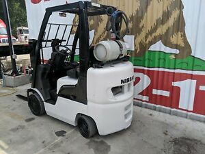 2005 Used Nissan Lp Gas Forklift Model Cl50lp 19k Hours With 4 Cushion Tires