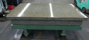 48 X 96 4 Ledge Grey Granite Surface Plate On Steel Stand W Casters Id I 033