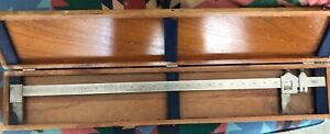 Vintage Vernier Caliper 24 Inch Made In Us Very Good Condition