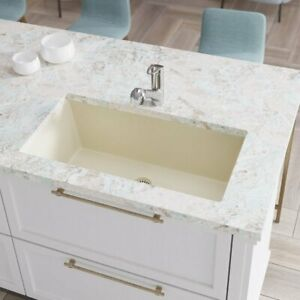 R3 1006 Single Bowl Undermount Composite Granite Sink Grid And Matching