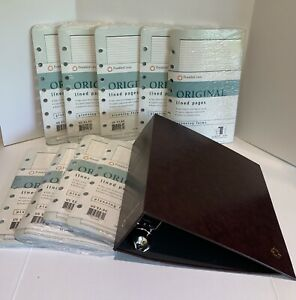 Franklin Covey Lined Pages Binder Lot Classic Size 9 Sealed Refills 5 5 X 8 5