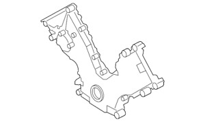Genuine Ford Engine Timing Cover 2l3z 6019 ba
