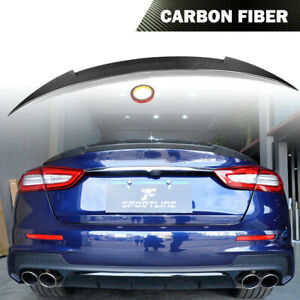 Rear Trunk Spoiler Wing Carbon Fiber Fit For Maserati Quattroporte Sedan 13 15