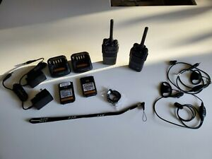 Used Working Pair Uhf Hytera Pd502 Radios Programmed Extras 90 Day Warranty