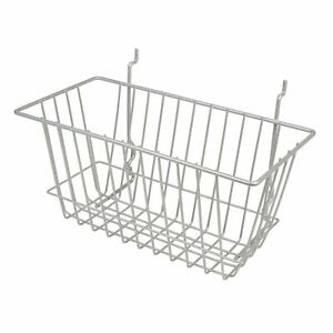 Econoco Chrome Narrow Basket For Slatwall Grid Or Pegboard Pack Of 6