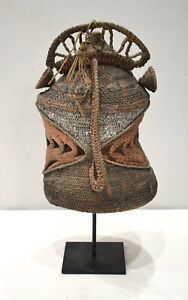 Papua New Guinea Mask Baba Yam Helmet Headdress Initatiation Mask