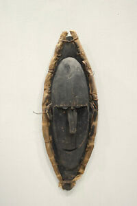Papua New Guinea Mask Black Wood Lower Sepik River Savi Mask