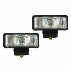 Pilot Universal 2 X 6 H3 55w Clear Lens Chrome Housing Fog Lights Lamps Kit