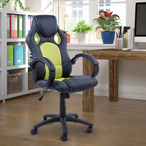 Racecar Style Office Gaming Chair High Back Executive Adjustable Swivel Seat