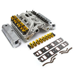 Fits Ford Sb 289 302 Solid Ft Cnc Cylinder Head Top End Engine Combo Kit