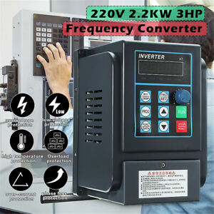 2 2kw 2hp Variable Frequency Drive Inverter Cnc Vfd 220v Single To 380v 3 Phase