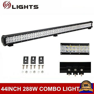44inch 288w Led Light Bar Combo Offroad Driving Ute Ford Atv Suv Truck Pk 42 48