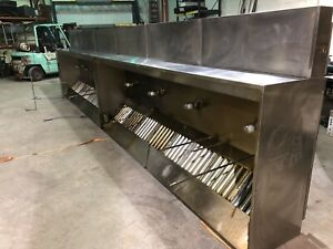Captive Aire 26 Nd 2 Wall Canopy Type 1 Commercial Kitchen Exhaust Hood