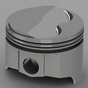 Icon Forged Piston Set Fits Ford 351w Rod 5 956 Solid Dome 6 8cc 2v