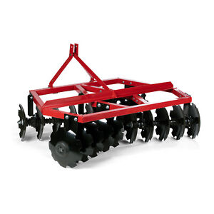 Category 1 3 Point Notched Disc Harrow Plow For Kubota New Holland Tractors 4
