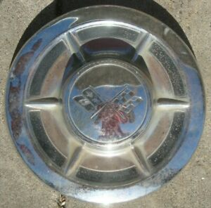 Vintage 1960 1962 Big Brake Corvette Dog Dish Hubcap Impala Biscayne Bel air