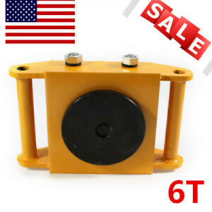 13200lb Heavy Duty Machine Dolly Skate Roller Machinery Mover 360 Rotation Cap