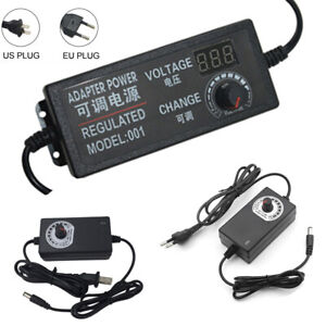 Multi voltage 3v 24v Adjustable Dc Power Supply Switch Us eu Adapter Ac 100 240v
