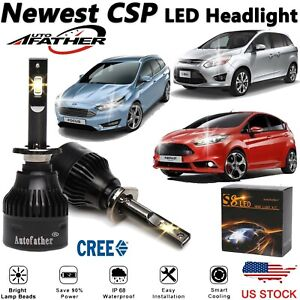 Cree H1 2000w Led Headlight Kit High Beams For Ford Focus Fiesta C Max 2013 2018