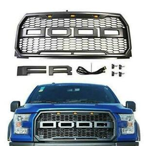 2015 2017 Front Raptor Grille F 150 Conversion F150 Fit For Ford Svt Style W led