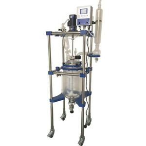 Lab Industrial Stirred Tank Reactor jacketed Glass Reactor 20l Sf 20l