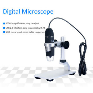 8 Led Usb Digital Camera Microscope Magnifier Lift Stand 0 1000x 0 3 M Cmos N0s3
