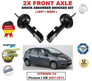 For Citroen C4 Picasso I Ud 2007 2013 2x Front Left Right Shock Absorbers Set