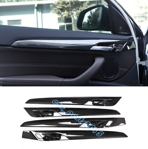 Abs Carbon Fiber Inner Door Decor Cover Trim For Bmw X1 F48 16 19 X2 F39 18 19