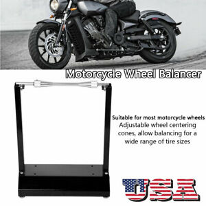 Motorcycle Wheel Balancing Stand Maintenance Rack For Most Motorcycle Black
