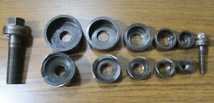 Used Greenlee Slug Buster Ball Bearing 1 2 To 1 1 2 Conduit Knockout Punch Set