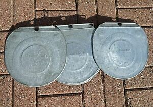 12 Very Nice Grimm Galvanized Sap Bucket Covers Lids Maple Syrup Need More