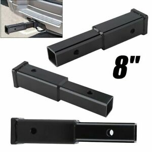 8 Hitch Extension Receiver 2 Extender 5 8 Pin Hole 4000 Lbs Tow Capacity Hm