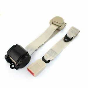 For Kia 1set 3 Point Fixed Harness Beige Adjustable Seat Belt Universal Replace