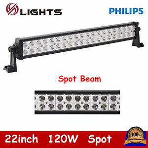 22inch 120w Led 4wd Suv Light Bar Offroad For Jeep Truck Slim Spot Ford Pk 20 24