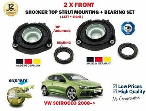 For Vw Scirocco 2008 2x Front Shocker Top Strut Mountings Bearing