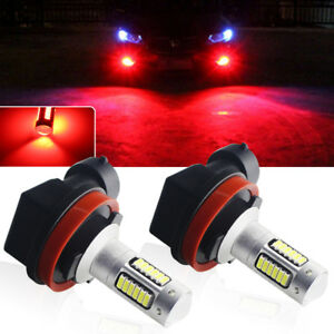 Brilliant Red 30 Smd H8 H11 H9 Super Bright Led Fog Lamp Driving Drl Light Bulbs