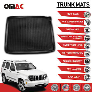 Cargo Liner Cover Trunk Floor Mats Fits Jeep Liberty 2008 2012
